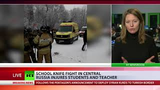 At least 15 injured in a knife rampage at a school in the Russian city of Perm - RUSSIATODAY