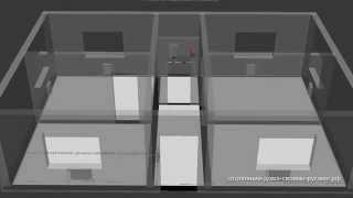 3D Схема однотрубной системы отопления из полипропилена