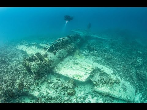 Incredible images show underwater graveyard of world war
