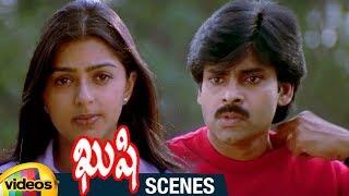Sudhakar Flirtis with Mumtaj | Pawan Kalyan Argues with Bhumika | Kushi Telugu Movie Scenes | Ali - MANGOVIDEOS