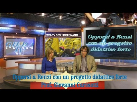 Opporsi a Renzi con un progetto didattico forte