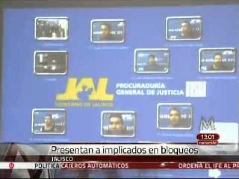 Consignan a detenidos por narcobloqueos en Jalisco