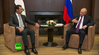 RAW: Putin, Assad meet in Sochi to discuss political process in Syria - RUSSIATODAY