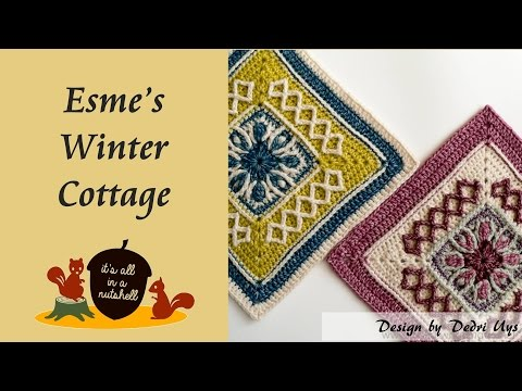 Esme's Winter Cottage - Crochet Square