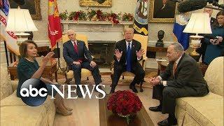 Trump, Schumer, Pelosi publicly spar over border security - ABCNEWS