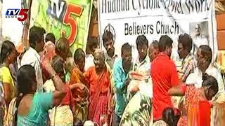 TV5 Hudhud Relief Campaign   Believers Church with tv5 at Vizianagaram : TV5 News - TV5NEWSCHANNEL