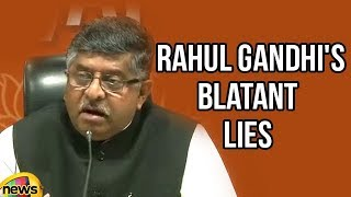 Ravi Shankar Prasad on Rahul Gandhi's Blatant lies Inside outside the Parliament | Mango News - MANGONEWS