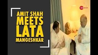 Amit Shah meets Lata Mangeshkar in Mumbai - ZEENEWS