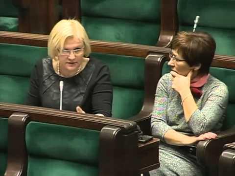 [53/255] Krystyna Poślednia: Pani Marszałek! Pani Minister! Chciałabym zadać pytania w związ...