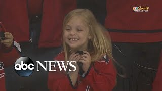Viral video captures 6-year-old scoring puck from Washington Capitals player - ABCNEWS