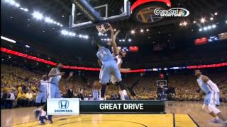 Andrew Bogut's Dunks Over JaVale McGee & Kenneth Faried