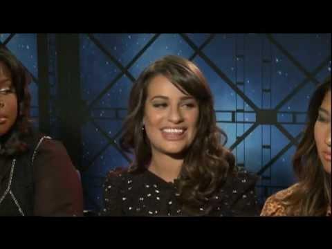 GLEE Interviews with Lea Michele, Dianna Agron, Heather Morris, Naya Rivera, Chris Colfer & more!