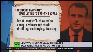 Vent Your Anger: Macron invites France to engage in national debate on Yellow Vests' concerns - RUSSIATODAY