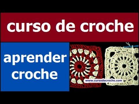 CROCHE AULA 25 SQUARE EM CROCHE COM INICIO REDONDO
