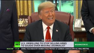 Trump unwilling to stop selling arms to Saudi Arabia over missing journalist - RUSSIATODAY