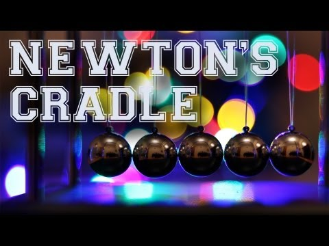 The Physics Behind Newton's Cradle (Ball Clicker) Explanation & Demonstration (Energy/Momentum)