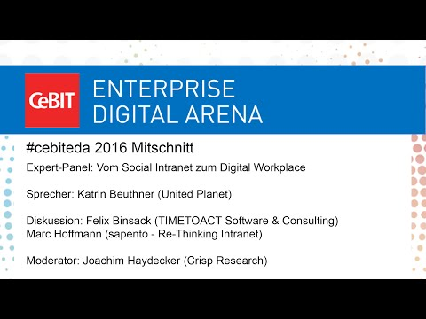 "#cebiteda16: Expert-Panel ""Vom Social Intranet zum Digital Workplace"""