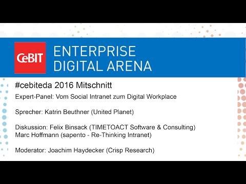 "#cebiteda16: Expert-Panel ""Vom Social Intranet zum Digital Workplace"""