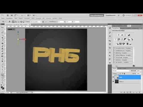 Adobe Photoshop CS5 Extended Tutorial - 3D Text (Teil 2)