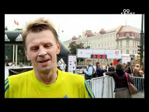 SPORT1: R.Kazlo dainelė Vilniaus maratono metu