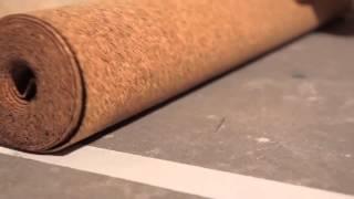 Укладка пробковой подложки