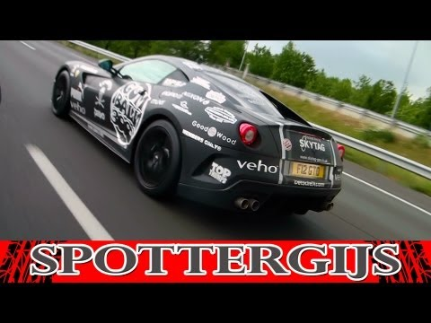 Gumball 3000 2011: Ferrari 599 GTO CRAZY LOUD fly-by's on the highway!!!