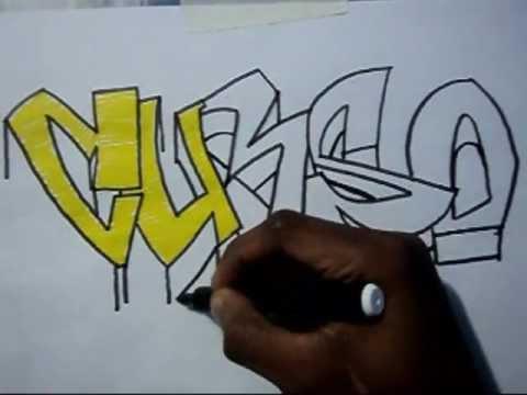 Video aula com Gene do Grafite 005 - Letra com sombra 3/5