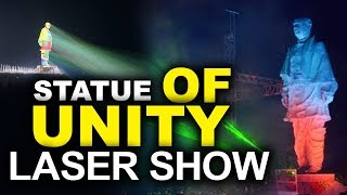 Laser Light Show At Statue Of Unity | Sardar Patel Statue Of Unity Laser Show |  TVNXT Hotshot - MUSTHMASALA