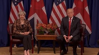 President Donald Trump meets with UK PM Theresa May amid UN General Assembly - ABCNEWS