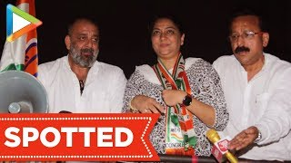Sanjay Dutt Campaigns For Sister Priya Dutt At Santacruz - HUNGAMA