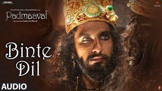 Padmaavat: Binte Dil Audio | Arijit Singh | Deepika Padukone | Shahid Kapoor | Ranveer Singh - TSERIES
