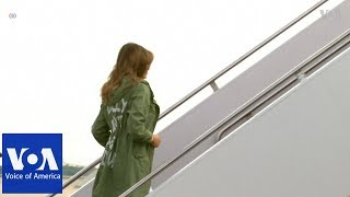 Jacket Message Overshadows First Lady's Visit to Migrant Children - VOAVIDEO