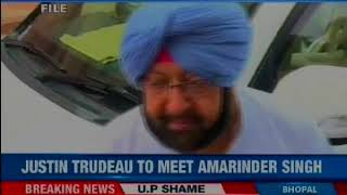 Punjab chief minister Captain Amarinder Singh will meet Canadian PMr Justin Trudeau on Feb 21 - NEWSXLIVE