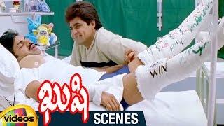 Pawan Kalyan and Ali Superb Comedy in Hospital | Kushi Telugu Movie Scenes | Bhumika | Ali - MANGOVIDEOS