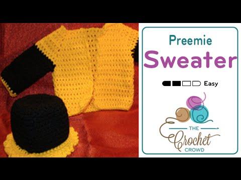 Crochet Preemie Sweater Tutorial