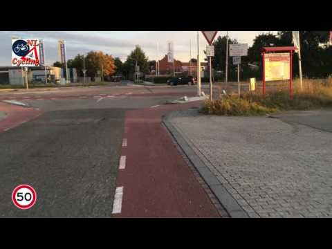 Cycling from Grubbenvorst to Venlo (sped up)