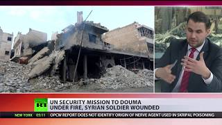 OPCW team comes under fire on 'rehearsal trip' in Douma - RUSSIATODAY
