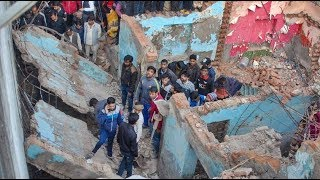 Noida building collapses, 12-year-old boy crushed to death - TIMESOFINDIACHANNEL