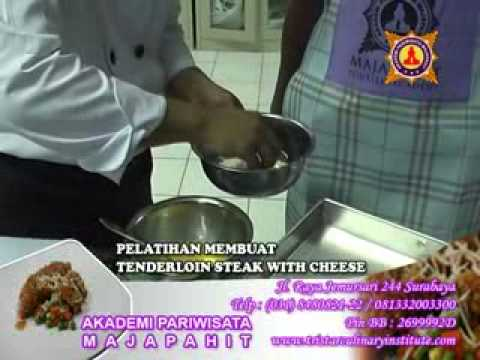 KURSUS MEMBUAT TENDERLION STEAK WITH CHEESE