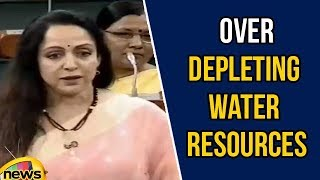 Hema Malini Expresses Concern over Depleting Water Resources | Lok Sabha Session 2018 | Mango News - MANGONEWS