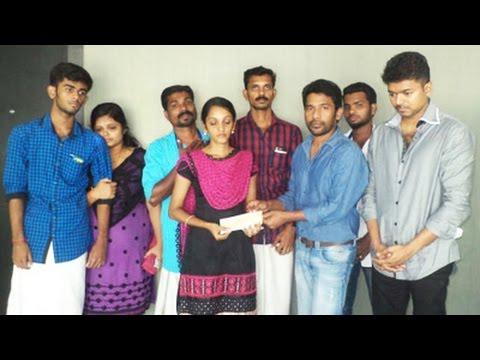 Vijay donates 3 Lakhs to his Fan's Family