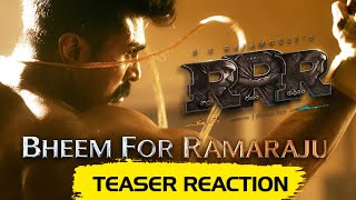 Bheem For Ramaraju - RRR (Teaser Reaction) - Happy Birthday Ram Charan | NTR, | SS Rajamouli - TELUGUONE