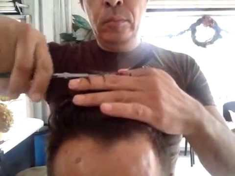 Corte de cabello caballero con maquina y tijera básico