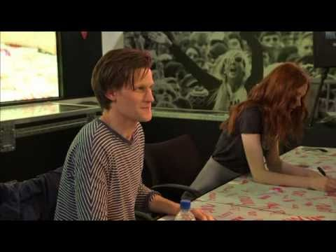 Doctor Who Matt Smith and Karen Gillan signing @ hmv Oxford Street London 2010