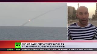 Russian submarine hits terrorist group with Kalibr missiles - RUSSIATODAY
