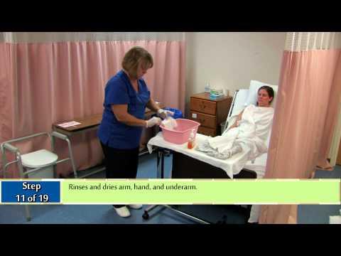 bed bath procedure caregiver 1