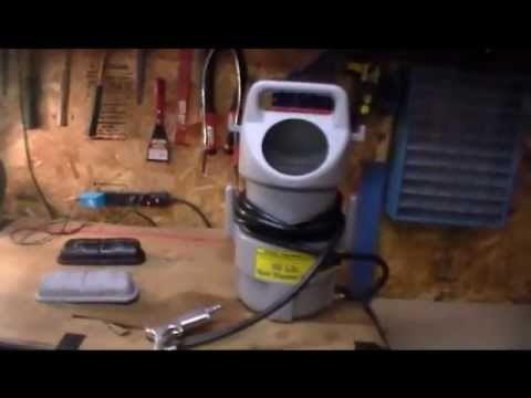 My new Harbor Freight portable sand blaster.wmv