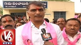 Interview With TRS Leader Harish Rao - V6NEWSTELUGU
