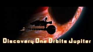 Royalty Free :Discovery One Orbits Jupiter