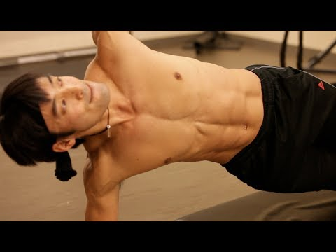 Take a look at the core workout of a male ballet dancer